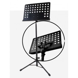 PUPITRE ORCHESTRE SOUNDSATION TABLETTE PERFORÉE SPMS-200-BK