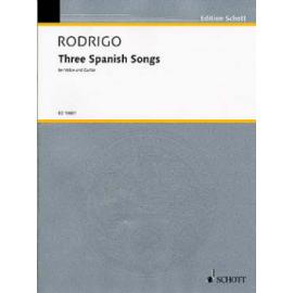 RODRIGO 3 SPANISH SONG ED10601