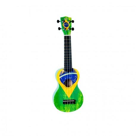 Ukulele wiki soprano drapeau bresil l 39 atelier de la guitare for Porte ukulele