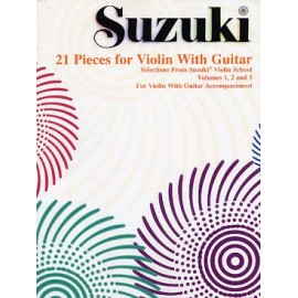 SUZUKI 21 PIECES FOR VIOLIN WITH GUITAR 874872952 295S
