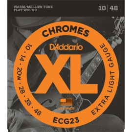 D'ADDARIO CHROMES FILE PLAT EXTRA LIGHT 10/48 JEU ECG23
