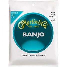 MARTIN BANJO 5 CORDES VEGA NICKEL WOUND MEDIUM 10/23 JEU V730