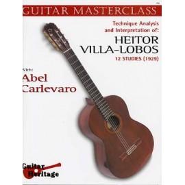 CARLEVARO MASTERCLASS VILLA LOBOS ETUDES ECH713