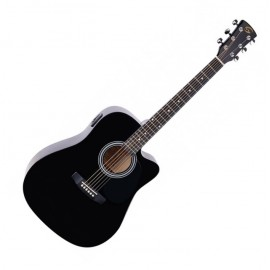 GUITARE YELLOWSTONE DREADNOUGHT CTW E/A BLACK DNCE-BK