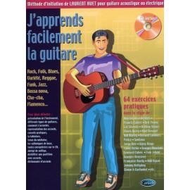 HUET J'APPRENDS FACILEMENT LA GUITARE (PACK PARTITION+CD)