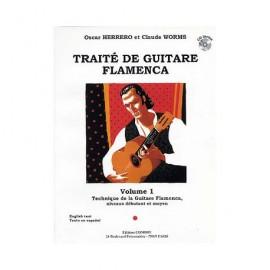 WORMS TRAITE DE GUITARE FLAMENCA 1 C5783 (PACK PARTITION+CD)