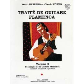 WORMS TRAITE DE GUITARE FLAMENCA 2 C5825 (PACK PARTITION+CD)