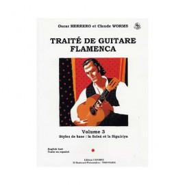 WORMS TRAITE DE GUITARE FLAMENCA 3 C5937 (PACK PARTITION+CD)
