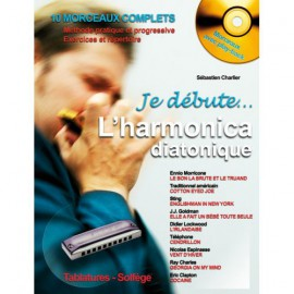 CHARLIER METHODE JE DEBUTE L'HARMONICA (PACK PARTITION+CD)