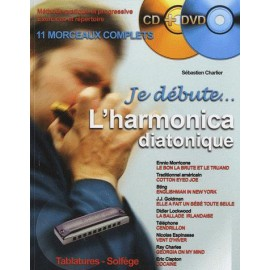 CHARLIER METHODE JE DEBUTE L'HARMONICA (PACK PARTITION+CD DVD)