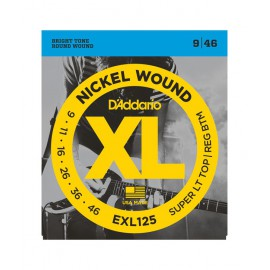 D'ADDARIO NICKEL WOUND HEAVY 09/46 JEU EXL125