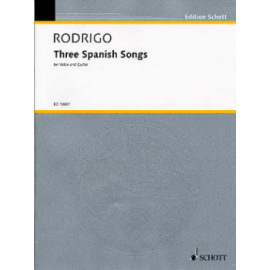 RODRIGO 3 SPANISH SONG ED10601