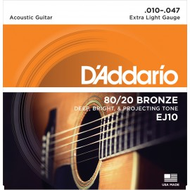 D'ADDARIO BRONZE X-LIGHT 10/47 JEU EJ10