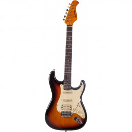 GUITARE ELECTRIQUE JM FOREST SUNBURST ST73RASUNB