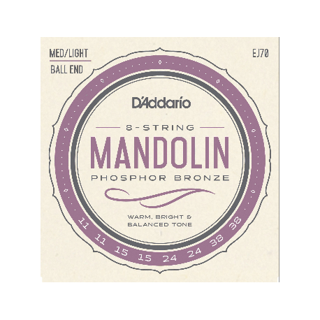 D'ADDARIO MANDOLINE PHOSPHOR BRONZE 11/38  EJ70