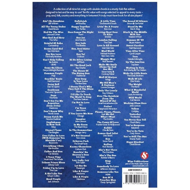 101 Hits For Ukulele Blue Book Am1008051 Latelier De La Guitare