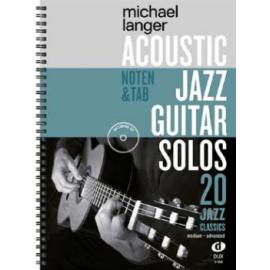 LANGER ACOUSTIC JAZZ GUITAR SOLOS + CD   D908