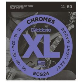 D'ADDARIO CHROMES FILE PLAT LIGHT 11/50 JEU ECG24