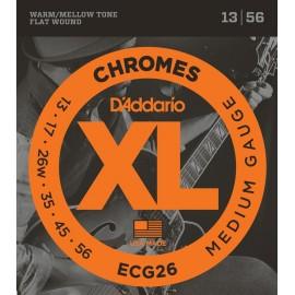 D'ADDARIO CHROMES FILE PLAT MEDIUM 13/56 JEU ECG26