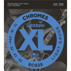D'ADDARIO CHROMES FILE PLAT LIGHT 12/52 JEU ECG25