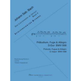 BACH PRELUDE FUGUE ET ALLEGRO BWV998 P14750