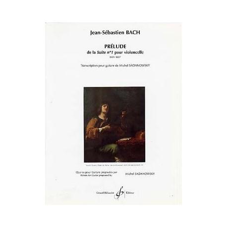 BACH PRELUDE DE LA SUITE N°1 POUR VIOLONCELLE BWV 1007  GB6981