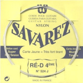 SAVAREZ CARTE JAUNE CORDE 4 RE 524J
