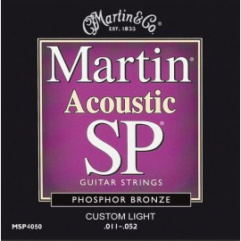 MARTIN FOLK BRONZE CUSTOM LIGHT 11/52 JEU CMA175