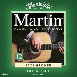 MARTIN FOLK BRONZE X-LIGHT 10/47 12 CORDES JEU M180