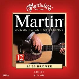 MARTIN BRONZE LIGHT 12/54 12 CORDES JEU M190