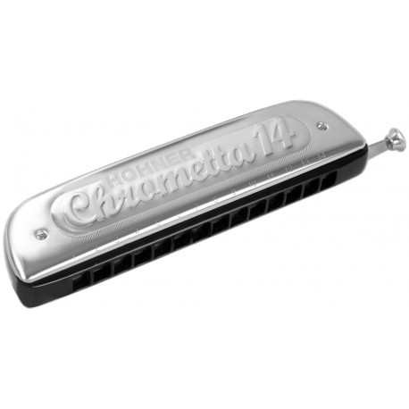 HARMONICA HOHNER CHROMETTA 14 TROUS C 257 56
