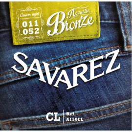 SAVAREZ FOLK BRONZE CUSTOM LIGHT 11/52 JEU A130CL