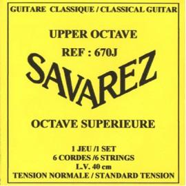 SAVAREZ OCTAVE SUPERIEURE 40CM FORTE TENSION JEU 670J
