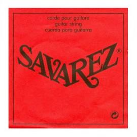 SAVAREZ OCTAVE SUPERIEURE ROUGE CORDE 1 MI SOP671R