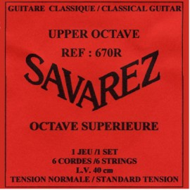 SAVAREZ OCTAVE SUPERIEURE 40CM NORMAL TENSION JEU 670R
