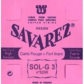 SAVAREZ CARTE ROUGE CORDE 3 SOL 523R