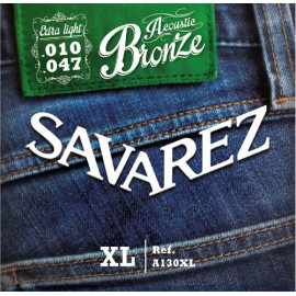 SAVAREZ FOLK BRONZE EXTRA LIGHT 10/47 JEU A130XL