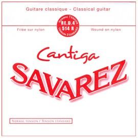 SAVAREZ CANTIGA ROUGE CORDE 4 RE 514R