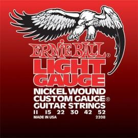 ERNIE BALL ELECTRIQUE LIGHT SOL FILEE 11/52 JEU EP2208