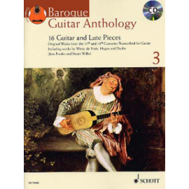 BAROQUE GUITAR ANTHOLOGY 3 + CD  ED13446
