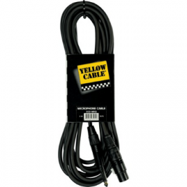 CABLE YELLOW CABLE JACK MONO MALE/XLR FEMELLE 5M PROFILE