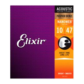 ELIXIR FOLK NANOWEB EXTRA LIGHT 10/47 12 CORDES