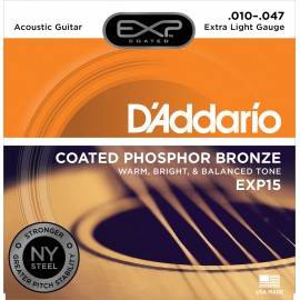 JEU DE CORDES D'ADDARIO CUSTOM LIGHT EXP26 PHOSPHORE BRONZE 11/52