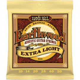 ERNIE BALL ACOUSTIC EXTRA LIGHT BRONZE 10/50 JEU EP2006