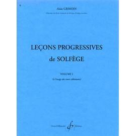 GRIMOIN LECONS PROGRESSIVES 1