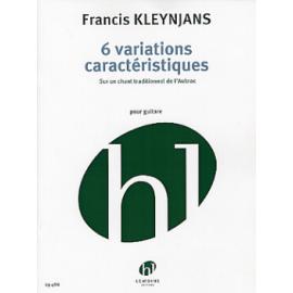 KLEYNJANS 6 VARIATIONS CARACTERISTIQUES  HL29488