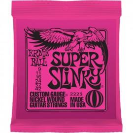 ERNIE BALL SUPER SLINKY CUSTOM 09/42 JEU 2223