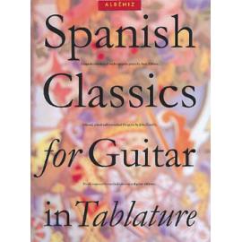 ALBENIZ SPANISH CLASSICS FOR GUITARE EN TABLATURES  AM91080