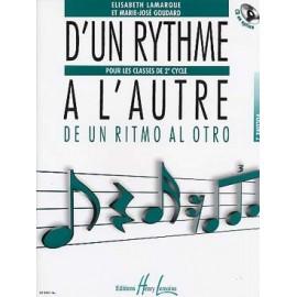 LAMARQUE D'UN RYTHME A L'AUTRE 2EME CYCLE VOLUME 2