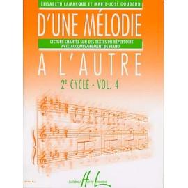 LAMARQUE D'UNE MELODIE A L'AUTRE 2EME CYCLE VOLUME 4